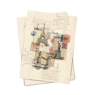 Matějovský kuchyňská utěrka Traveling, 50 x 70 cm, 2 ks
