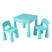 New Baby Dětská sada stolčeka a stoličiek 3 ks, mätová