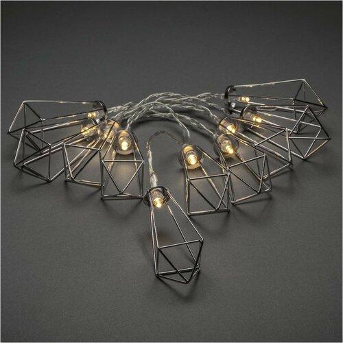 Dekorativní LED řetěz Lucerny, stříbrná
