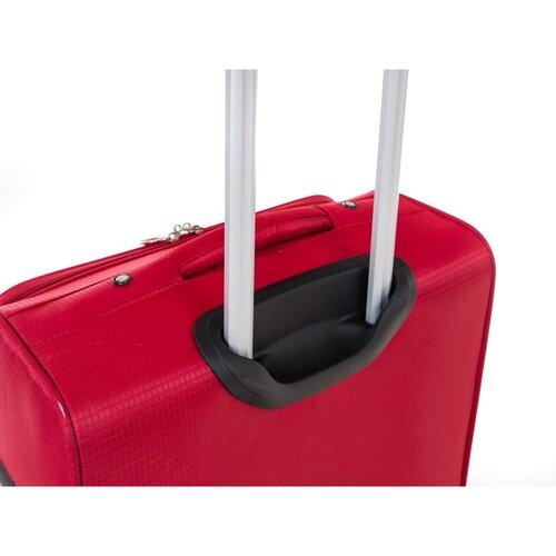 Pretty UP Cestovný textilný kufor TEX15 M, červená