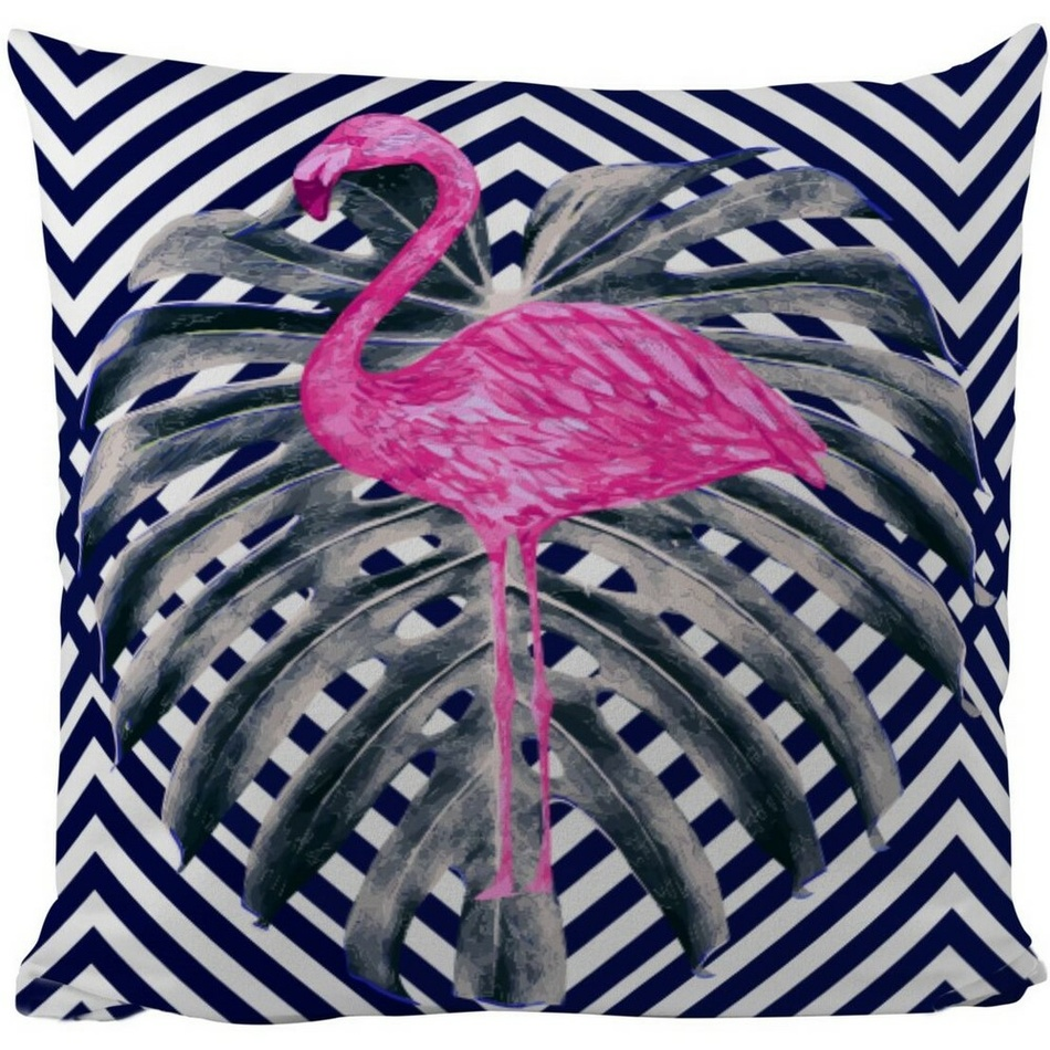 Butter Kings Vankúš Pink flamingo, 50 x 50 cm
