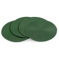Prostírání Deco kulaté tmavě zelená, 35 cm, sada 4 ks