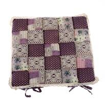 Pernă scaun Patchwork, violet, 40 x 40 cm