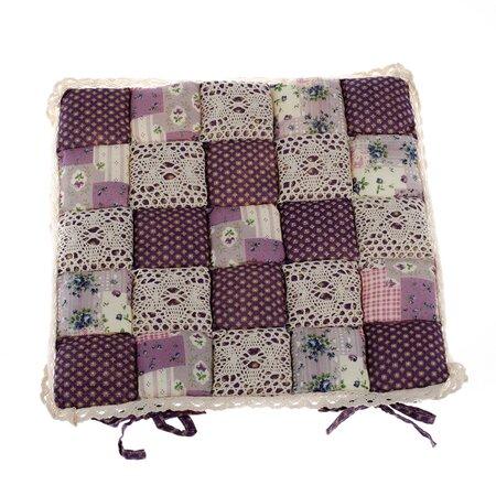 Sedák Patchwork fialová, 40 x 40 cm