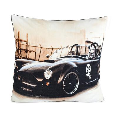 Poszewka na poduszkę – jasiek Samochód czarna, 45 x 45 cm