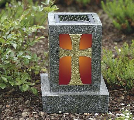 Solární svítilna na hrob
