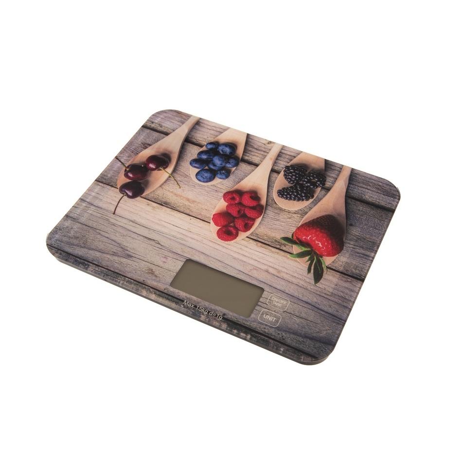 Orion Digitální kuchyňská váha Wood, 15 kg