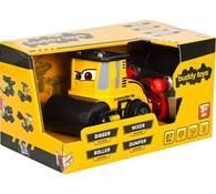Stavební auto Válec Buddy Toys, černá + žlutá