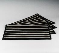 Prostírání Natur, sada 4 kusů, 30x45 cm, černá