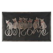 Wewnętrzna wycieraczka Siedzące koty, 45 x 75 cm