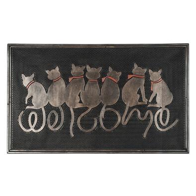 Venkovní rohožka Sedící kočky, 45 x 75 cm