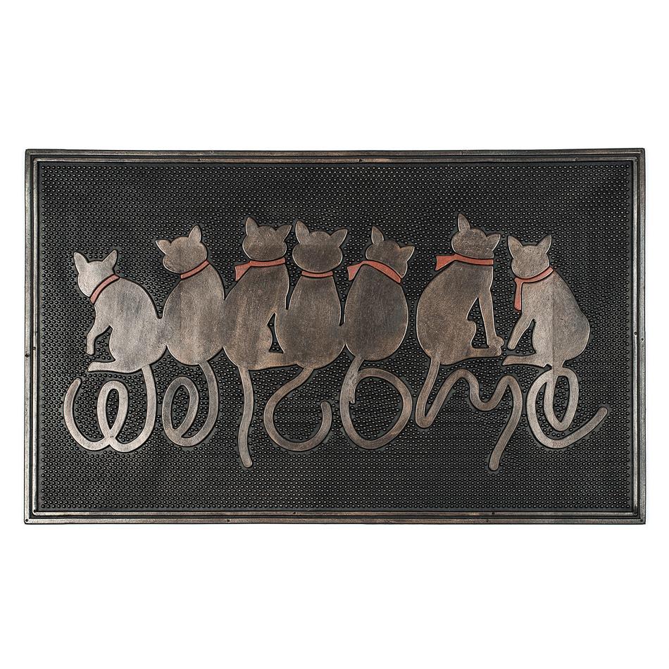 BO-MA Trading Vonkajšia rohožka Sediaci mačky, 45 x 75 cm