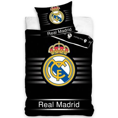 Povlečení Real Madrid Black, 140 x 200 cm, 70 x 90 cm