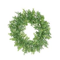 Coroniță artificială Buxus verde, diametru 16 cm