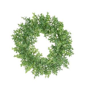 Umělý věnec Buxus zelená, pr. 16 cm