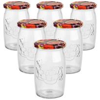 6dílná sada zavařovacích sklenic s víčkem Ovoce, 335 ml