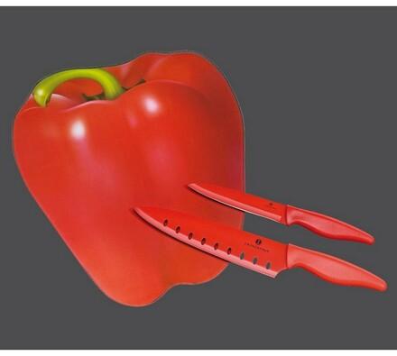 Zassenhaus Paprika krájecí prkénko s nožem