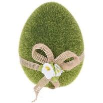 Zöld tojás húsvéti dekoráció, 11 cm