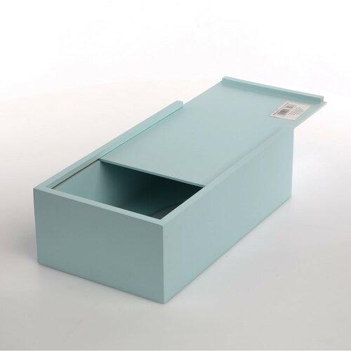 Altom Mackó fadoboz papírzsebkendőkhöz, kék