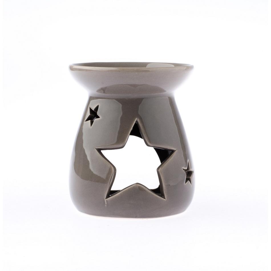 Keramická aromalampa Hviezda, sivá