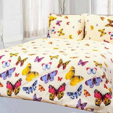 Bavlněné povlečení Motýli, 140 x 200 cm, 70 x 90 cm