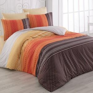 Bedtex povlečení bavlna Summer Oranžové, 220 x 200 cm, 2 ks 70 x 90 cm