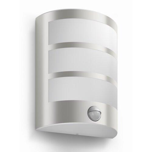 Philips 17324/47/16 Python Venkovní nástěnné LED svítidlo s čidlem 21 cm, stříbrná