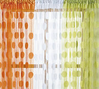 Provázková záclona Ada, bílá, 150 x 250 cm