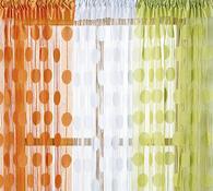 Provázková záclona Ada, oranžová, 90 x 180 cm