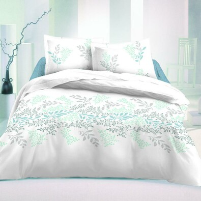 Saténové povlečení Victoria bílá Luxury Collection, 220 x 200 cm, 70 x 90 cm