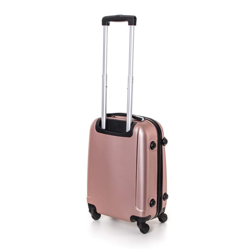 Produktové foto Pretty UP Kufr na kolečkách ABS16 růžová, 37 x 49 x 23 cm