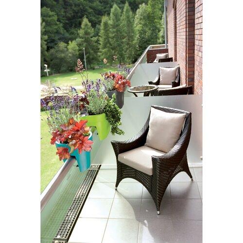 Kvetináč na zábradlie Lofly Railing antracitová, 24,5 cm