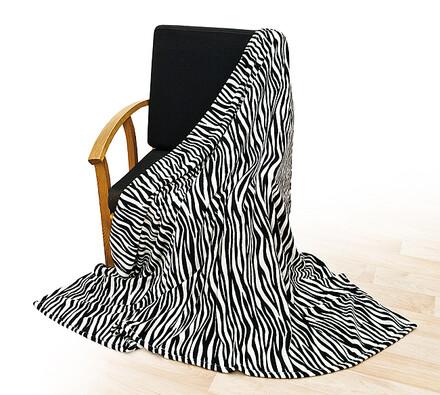 Deka Zebra, 150 x 200 cm, bílá + černá, 150 x 200 cm