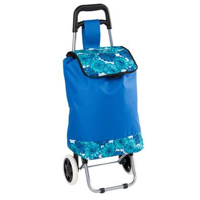 Nákupná taška na kolieskach Daisy, modrá