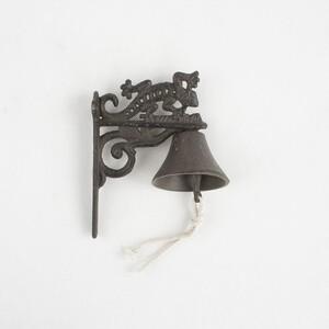 Litinový zvonek Ještěrka, 19 cm
