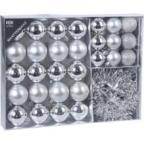 Koopman Sada vánočních ozdob Montevago stříbrná, 32 ks