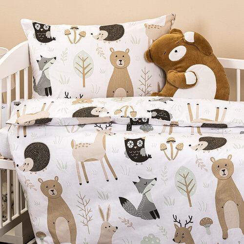 4Home Dziecięca pościel bawełniana do łóżeczka Nordic Friends, 100 x 135 cm, 40 x 60  cm