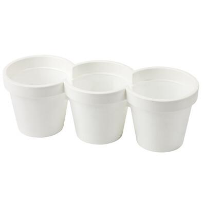 Plastové květináče Trio bílá