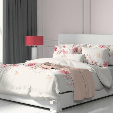 Kvalitex Bavlněné povlečení Tanea růžová, 140 x 200 cm, 70 x 90 cm