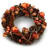 Podzimní věnec Gland oranžová, pr. 25 cm