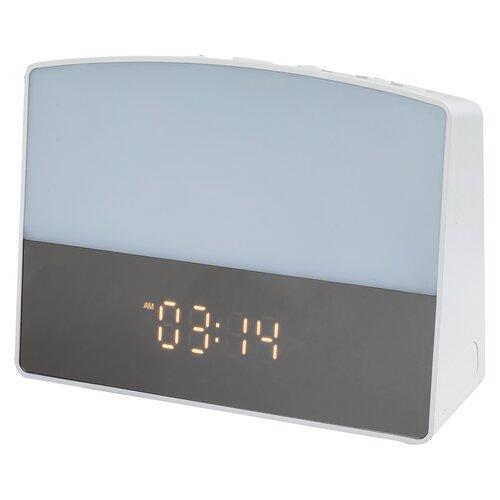 Rabalux 2972 Evita stolní LED lampa s budíkem, bílá