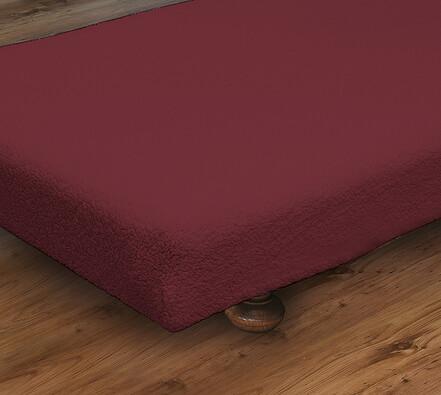 Napínací přehoz na postel, vínová, 90 x 190 cm