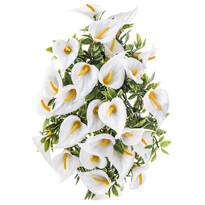 Umělá květina Kala bílá