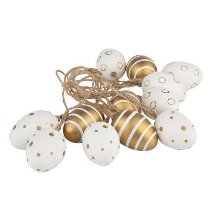 Sada dekorovaných velikonočních vajíček Golden, 12 ks