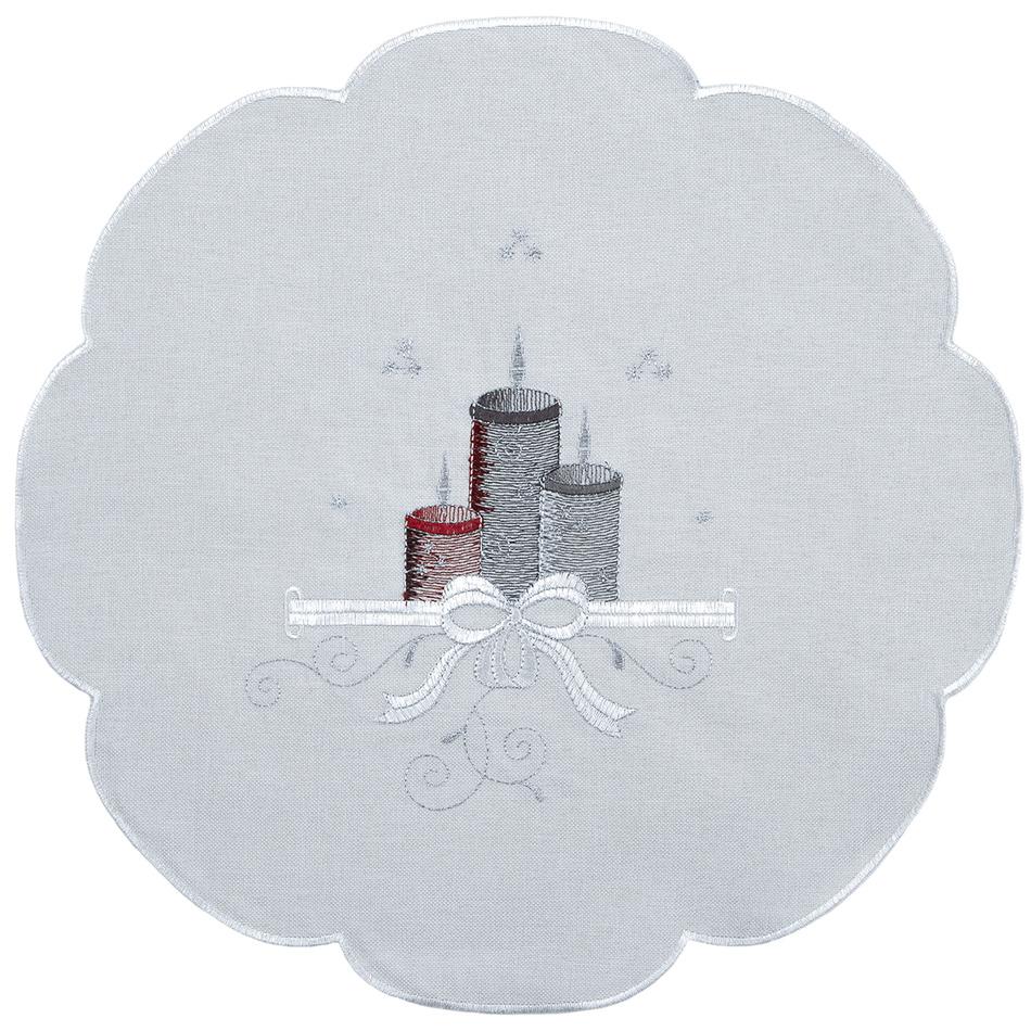 Forbyt Vánoční ubrus Svíčky barevná, pr. 35 cm