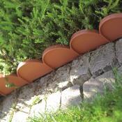 Zahradní palisáda Garden Line terakota 10m