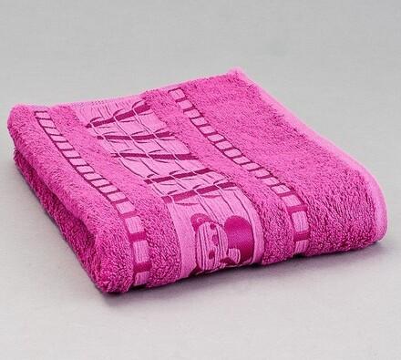 Sada 2 ks bambusových ručníků, růžová