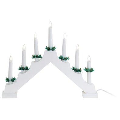 Candle Bridge karácsonyi gyertyatartó, fehér, 7 LED-es