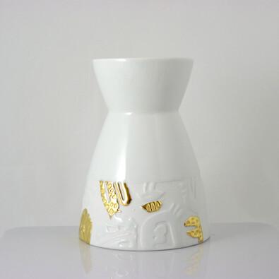 Váza Element 18,5 cm, zlatá