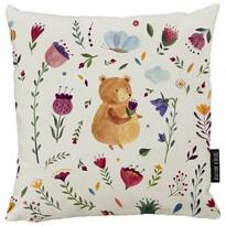 Pernă Butter Kings Teddy bear on the meadow, 50 x 50 cm
